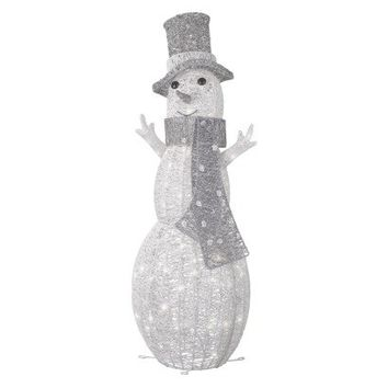 "Philips 42"" Lighted Glitter String Snowman Outdoor Décor Figurine"