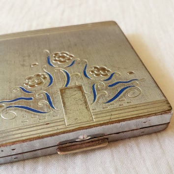 Vintage 1940s Art Deco Bourgois New York Compact