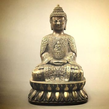 Antique Copper Buddha statues ~Security and peace ~