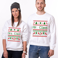 Ugly Christmas Sweaters for Couples, Ugly Christmas, Christmas Sweater, Christmas Ugly Sweater, Mr Mrs Claus, Ugly Christmas Couples Sweater