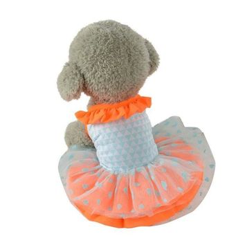 DCCKU7Q dog clothes for small dogs girl Short Skirt Dress Lace Dress dogs pets clothing roupa para cachorro