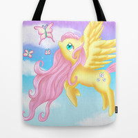 Fluttershy Tote Bag by Susaleena