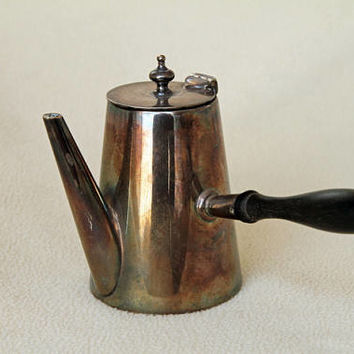 Vintage Silver Plated Turkish-style Coffee Pot