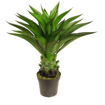 "30.5"" Decorative Potted Artificial Green Agave Americana Succulent Plant"