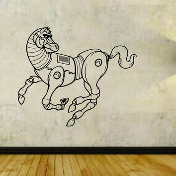 Steampunk Horse Design Vinyl Wall Decal Sticker Car Window Truck Decals Stick...