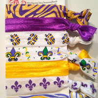 Elastic Hair Ties - BIG LSU set - Pony Tail Holder