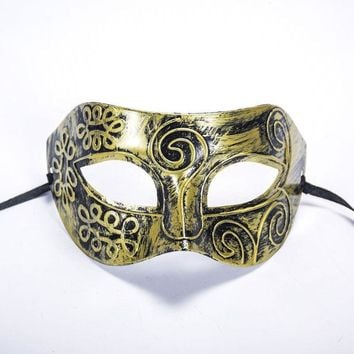 New Halloween Costume Ball Mask Rome Gladiator Masquerade Male Masks Retro Bronze And Silver Venetian Party Stage Prop
