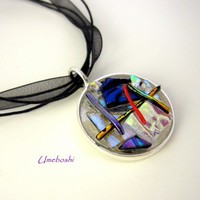 Abstract Wearable Art Pendant - Handmade One of a Kind