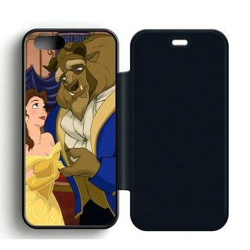 Beauty and the Beast Cartoon Leather Wallet Flip Case iPhone 5 | 5S