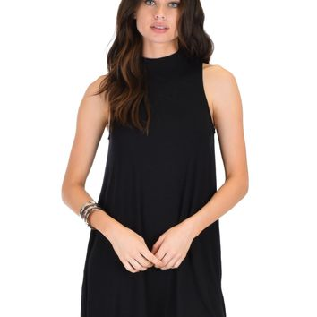 Lyss Loo Olivia Tank Black Shift Dress