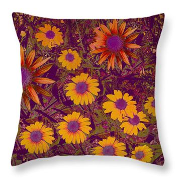 "Summer Garden Throw Pillow for Sale by Ann Powell - 14"" x 14"""