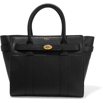 Mulberry - The Bayswater Zipped small textured-leather tote