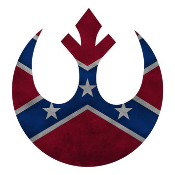 Star Wars - Rebel Confederate Forces Vinyl Die Cut Decal Sticker