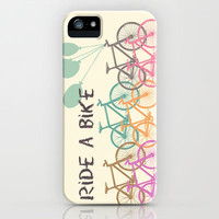 Ride a Bike iPhone Case by Louise Machado | Society6