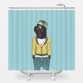 Rott Wildin' Shower Curtain
