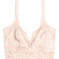 Lace bralette - Light beige - Ladies | H&M GB