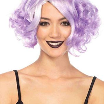 MDIGH3W Pastel curly bob wig in LAVENDER