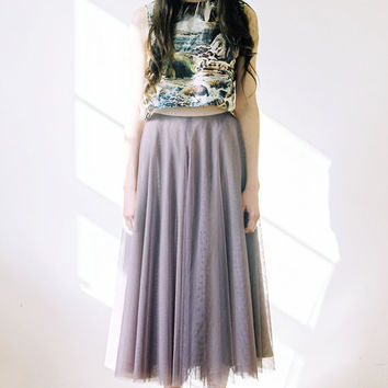 Tulle Circle Skirt midi length