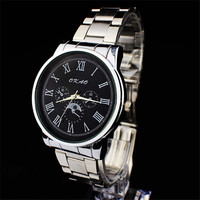 Mens Classic Steel Strap Wrist Watches Boys Casual Sports Watch Best Christmas Gift
