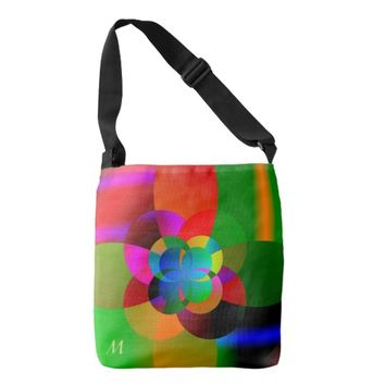 Abstract Cool Cute Fractal Neon Psychedelic Crossbody Bag