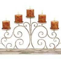 "One Kings Lane - An Autumnal Setting - 30"" Scrollwork Candleholder"