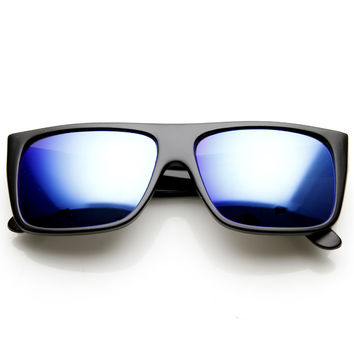 Retro Flat Top Street Wear Flash Mirror Lens Sunglasses 9452