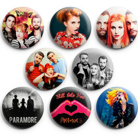 Paramore Pinback Buttons Badge 1.25 inch (Set of 8) NEW