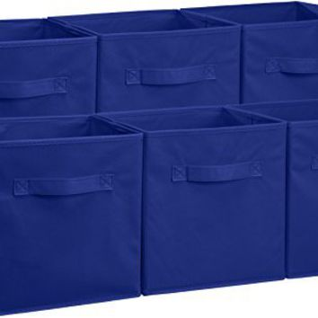 AmazonBasics Foldable Storage Cubes - 6-Pack, Navy