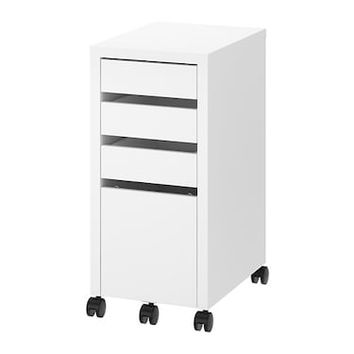MICKE Drawer unit with drop-file storage Black-brown 35 x 75 cm - IKEA