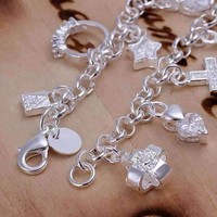 CLEARANCE - My Charmed Life - Silver Charm Bracelet