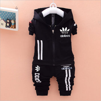 Kids Baby sport Suit Boys Long Sleeve T Shirt + Pants girls jogging casual Clothes Children clothing set kids hoodies tracksuit