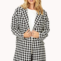 Borrowed-From-the-Boys Houndstooth Coat