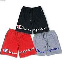 Champion summer men and women couple classic print letter sports shorts F-Great Me Store