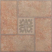 "Park Avenue Beige Terracotta 12"" x 12"" Self Adhesive Vinyl Floor Tile - 20 Tiles"