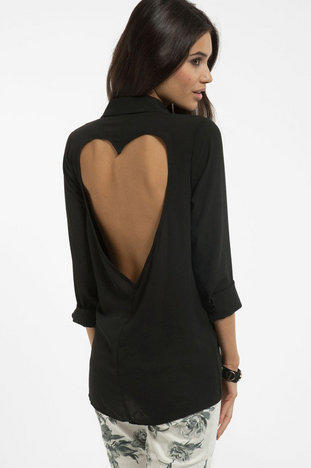 Luv Me Back Button Up Shirt $33