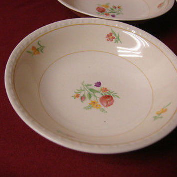 Vintage Homer Laughlin China Dinnerware Eggshell Georgian, Chintz 2 Fruit/sauce