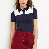 Boxy Colorblocked Polo