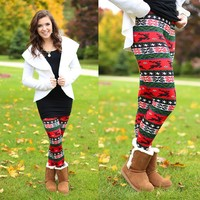Reindeer Dance Patterned Leggings