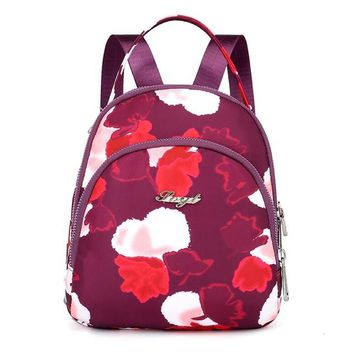 School Backpack trendy 2018 Casual Fashion Nylon Backpack Women Colorful School Bags For Women High Quality Waterproof Travel Tote Backpack AT_54_4