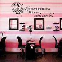 Vinyl Wall Decal Sticker Bedroom Hair Salon Your Nails Can Be Perfect Girl r1227