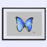 Download Butterfly poster printable art butterfly instant download watercolor painting  butterfly wall decor ideas in two size