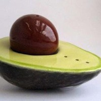Supermarket - Avocado Salt and Pepper Shaker from Daina Platais Ceramics