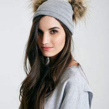 Oversized Two Pom Beanie | Wet Seal