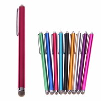 9 Colors Universal Metal Mesh Micro Fiber Tip Touch Screen Stylus Pen For iPhone For Samsung Smart Phone Tablet PC Fibre Stylus
