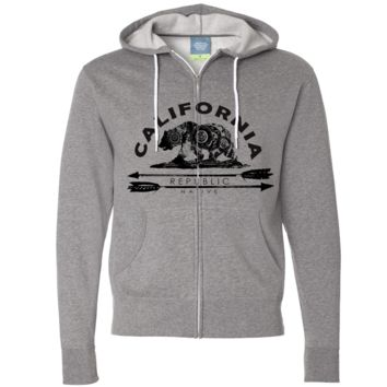California Arrow Bear Zip-Up Hoodie