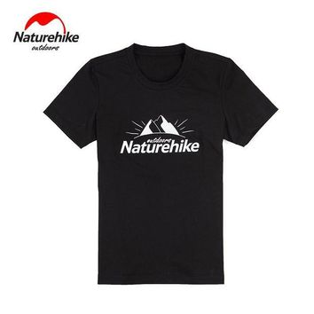 DCCKFS2 Brand Naturehike 2017 Outdoor hiking Sports stand collar T-shirts Running sports shirts Breathable quick drying perspire