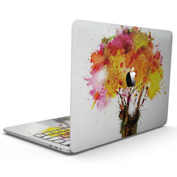 Watercolor Splattered Tree - MacBook Pro with Touch Bar Skin Kit