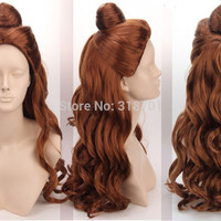 FREE SHIPPING! Inspired by Belle in Beauty And The Beast Synthetic Long Curly Wig