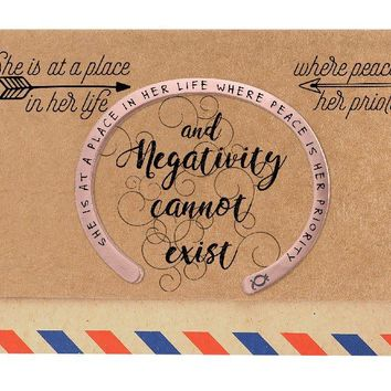 Giana Flat Cuff Bracelet for Women with Engraved, comes with an Inspirational and Motivational Quote Greeting Card
