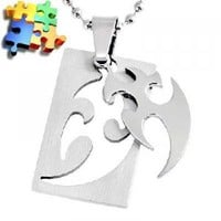 eBlueJay: Tribal Cut Out Dog Tag Necklace Puzzle Piece Unisex Jewelry Accessories
